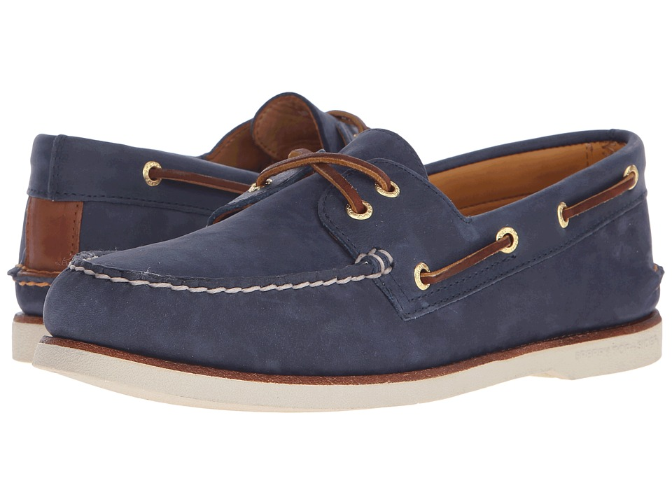Sperry Top-Sider - Gold A/O 2-Eye Nubuck (Navy) Men