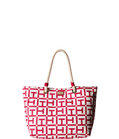 Tommy Hilfiger - Large Signature Printed Canvas Rope Tote