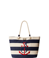 Tommy Hilfiger - Canvas Stripe Tied Anchor Rope Tote