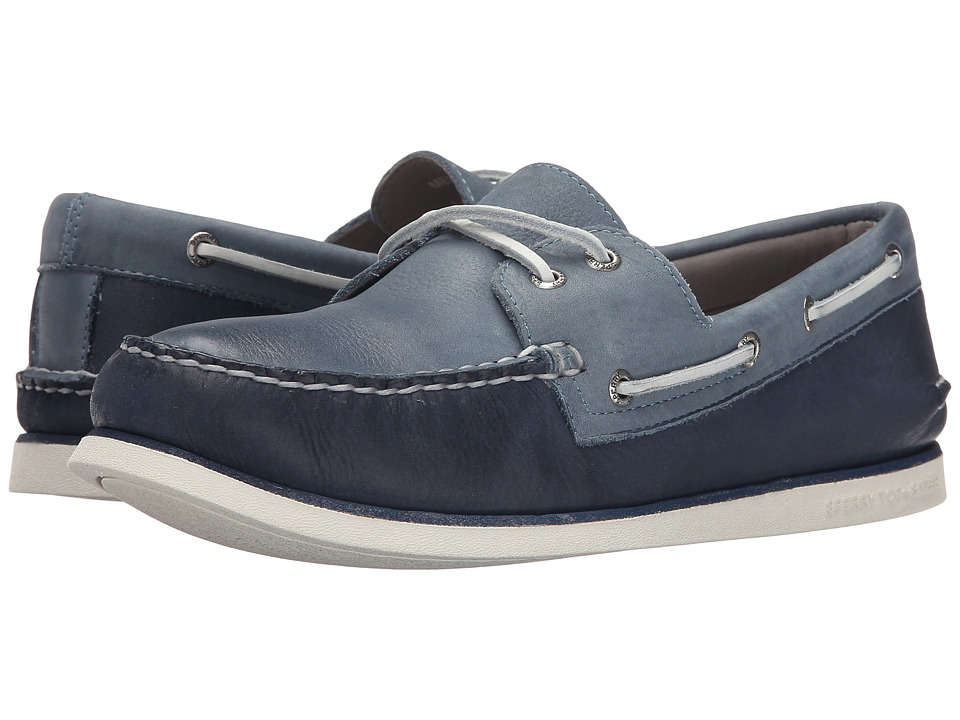 Sperry Top-Sider - Gold A/O 2-Eye Wedge (Navy/Blue) Men