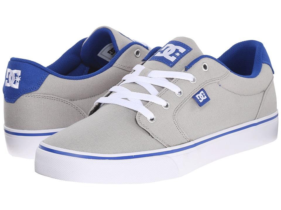 DC Anvil TX Grey/Blue Mens Skate Shoes