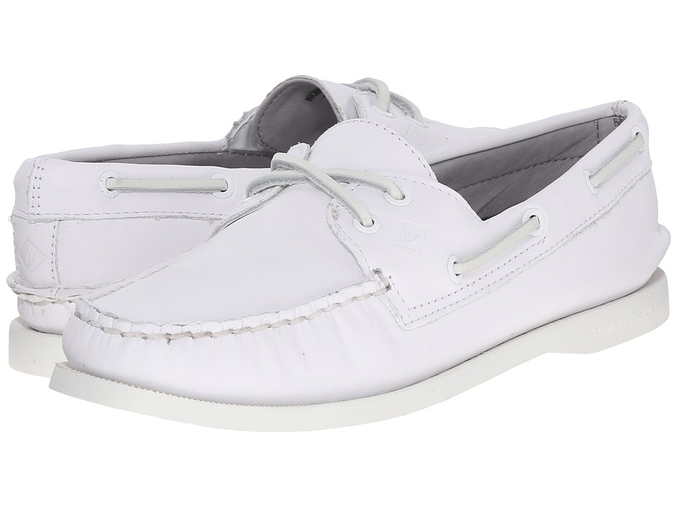 Sperry Top-Sider - A/O 2-Eye Leather (Bright White) Women