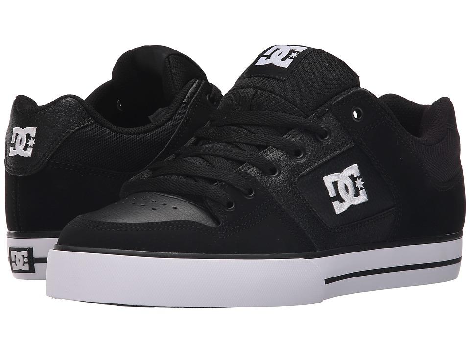 DC - Pure (Black/Black/White) Mens Skate Shoes