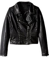 Blank NYC Kids - Black Studded Moto Jacket (Big Kids)
