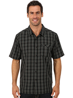 Image of Quiksilver Waterman - Kirra Bay Short Sleeve Shirt (Black) Men's Clothing