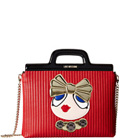 LOVE Moschino - Briefcase Tote /w Chain Girl Print