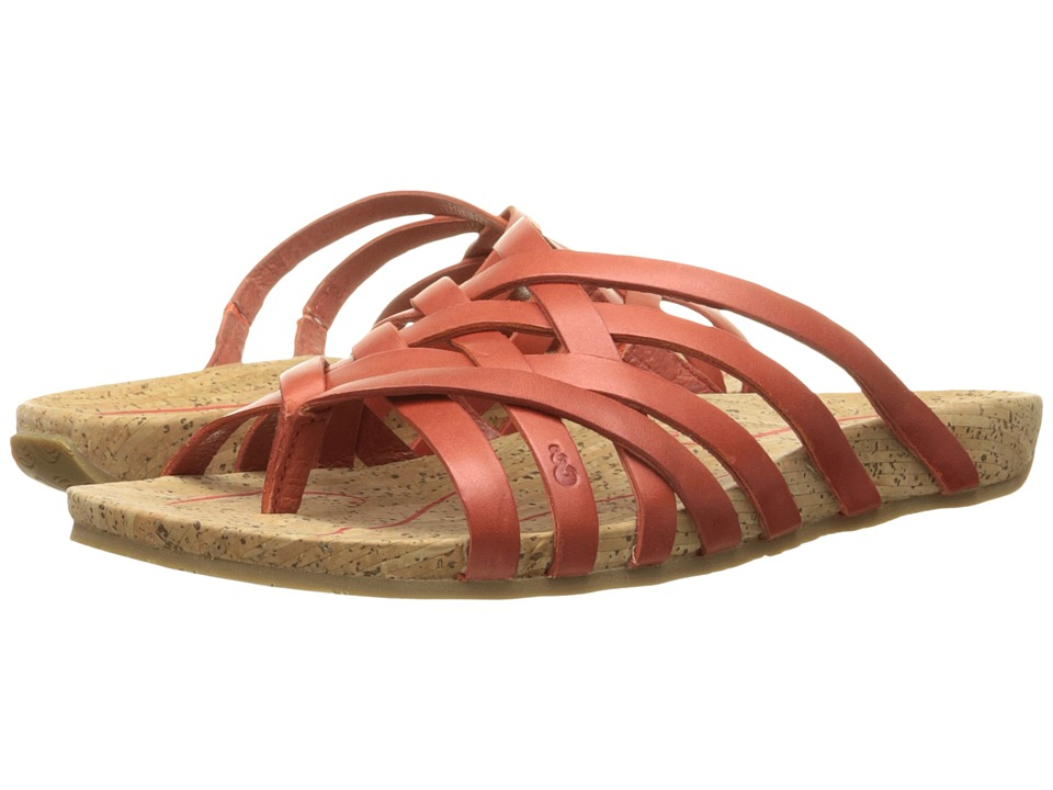 Ahnu Maia Thong Red Stone Womens Shoes