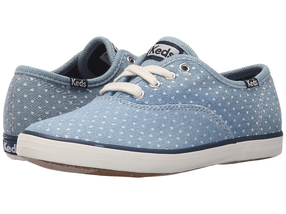 Keds Kids Champion CVO Prints Little Kid/Big Kid Chambray Heart Dot Girls Shoes