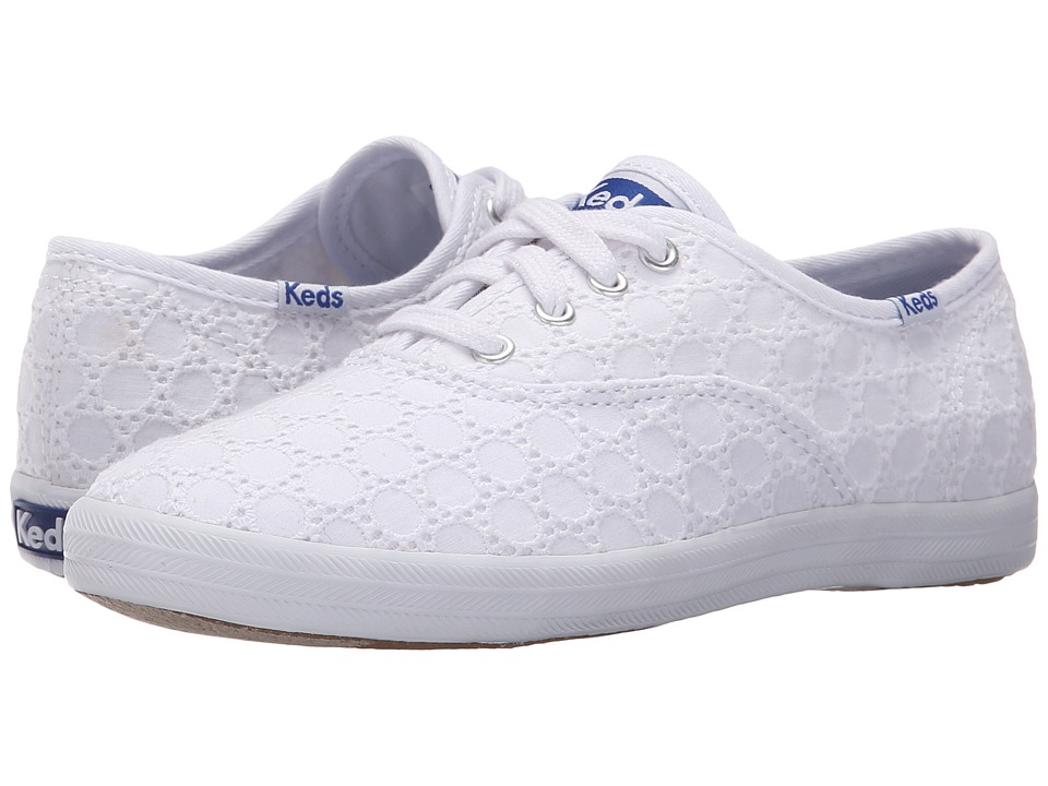 Keds Kids Champion CVO Seasonal Little Kid/Big Kid White Eyelet Girls Shoes