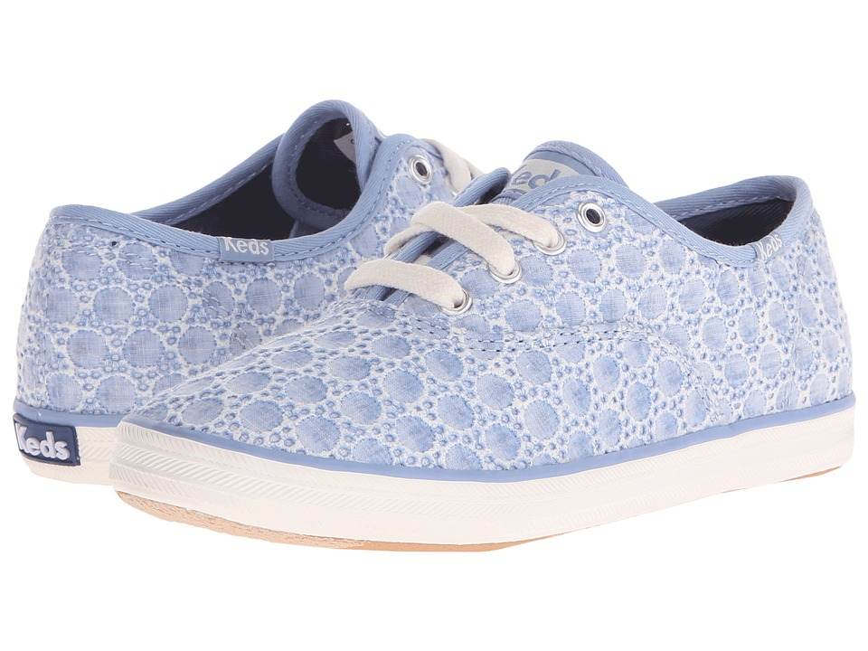 Keds Kids Champion CVO Seasonal Little Kid/Big Kid Chambray Eyelet Girls Shoes