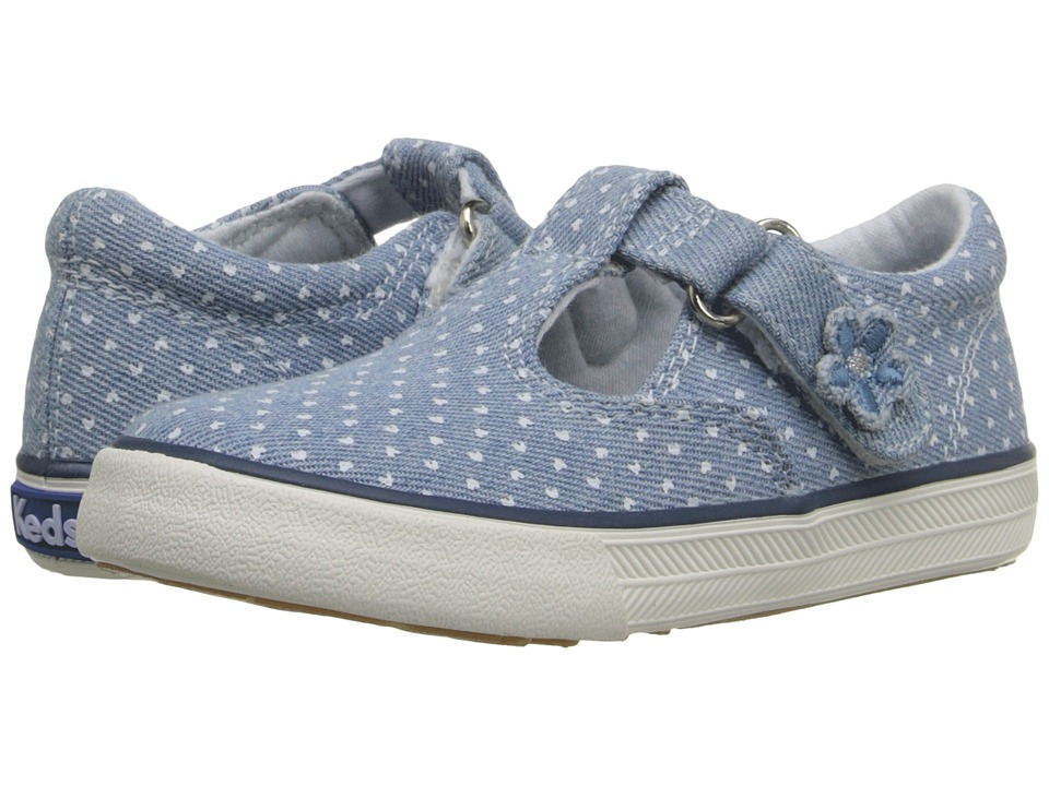 Keds Kids Daphne Infant/Toddler Chambray Heart Dot Girls Shoes
