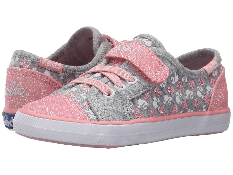 Keds Kids Barbie AC Toddler/Little Kid Grey/Pink Girls Shoes