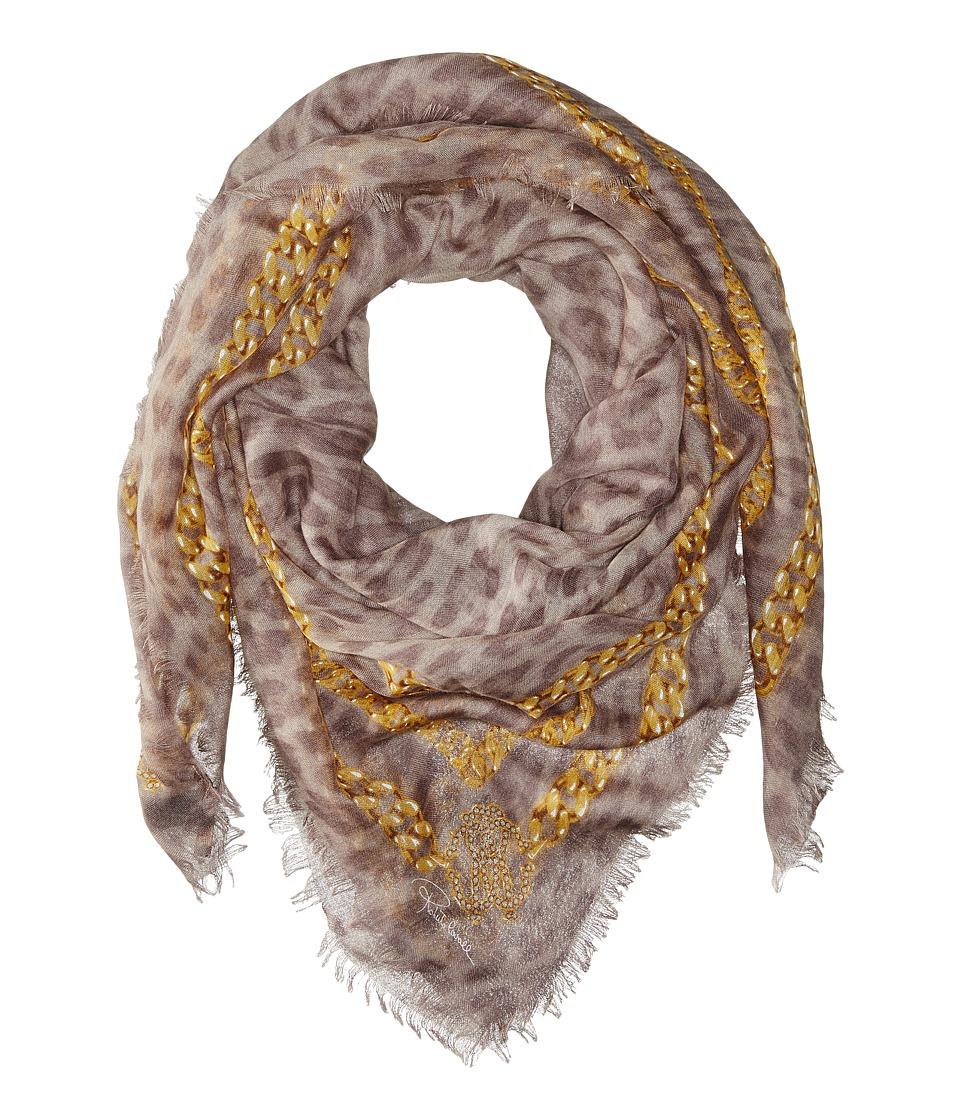 Roberto Cavalli Shawl 140 x 140 Shawl Silver/Gold Scarves