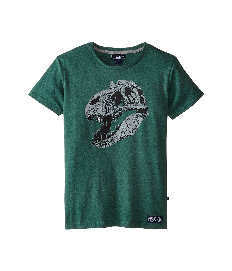 Toobydoo T Rex Explorer Tee Infant/Toddler/Little Kids/Big Kids Green Boys T Shirt