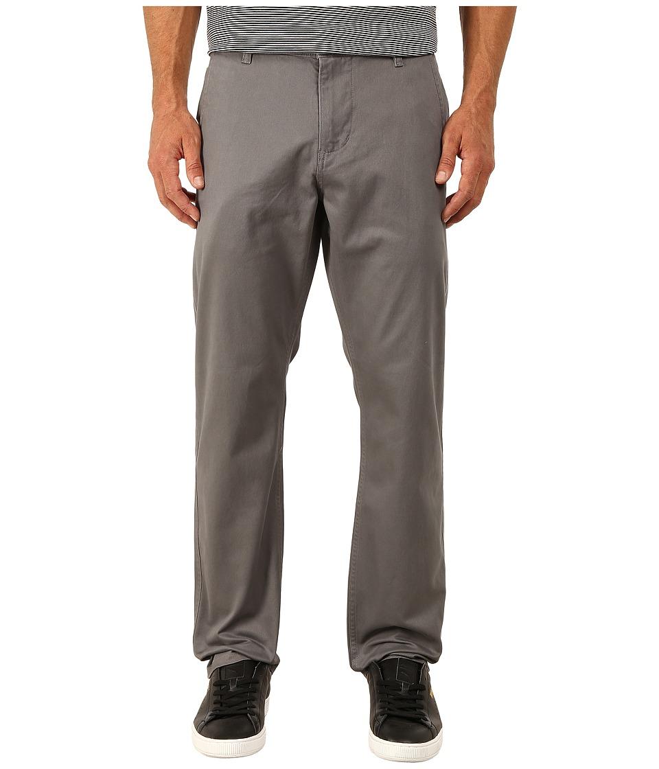Dockers Mens Alpha Original Athletic Stretch Twill Burma Grey Mens Casual Pants