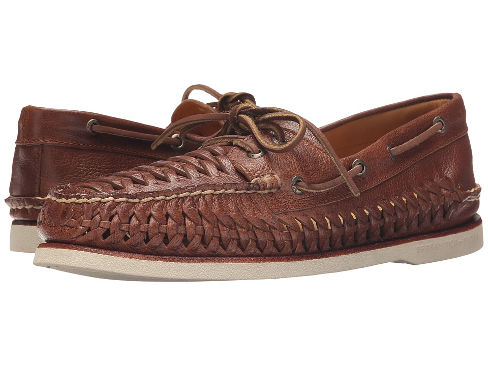 Sperry Top-Sider - Gold A/O 2 Eye Woven (Brown) Men