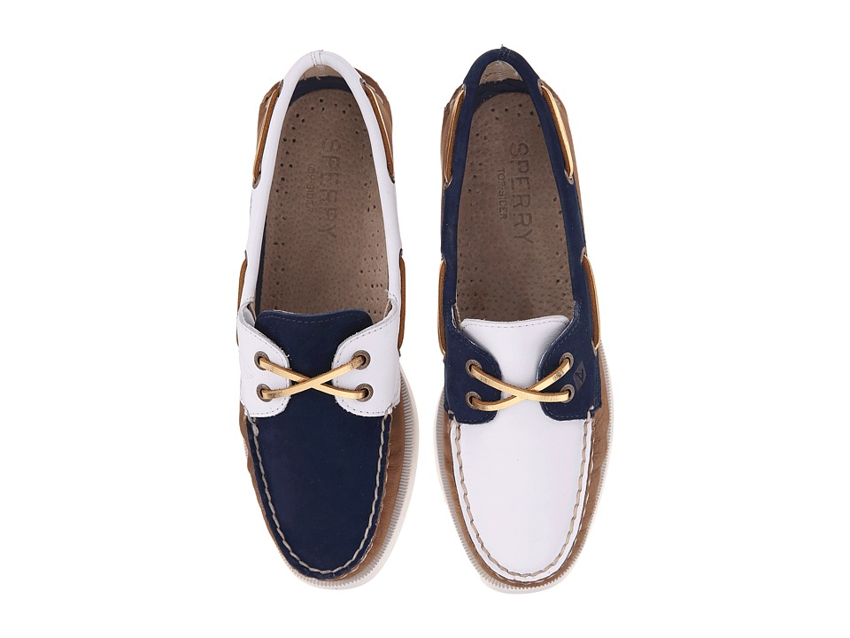 Sperry Top-Sider - A/O 2-Eye Miss Match (White/Navy) Women