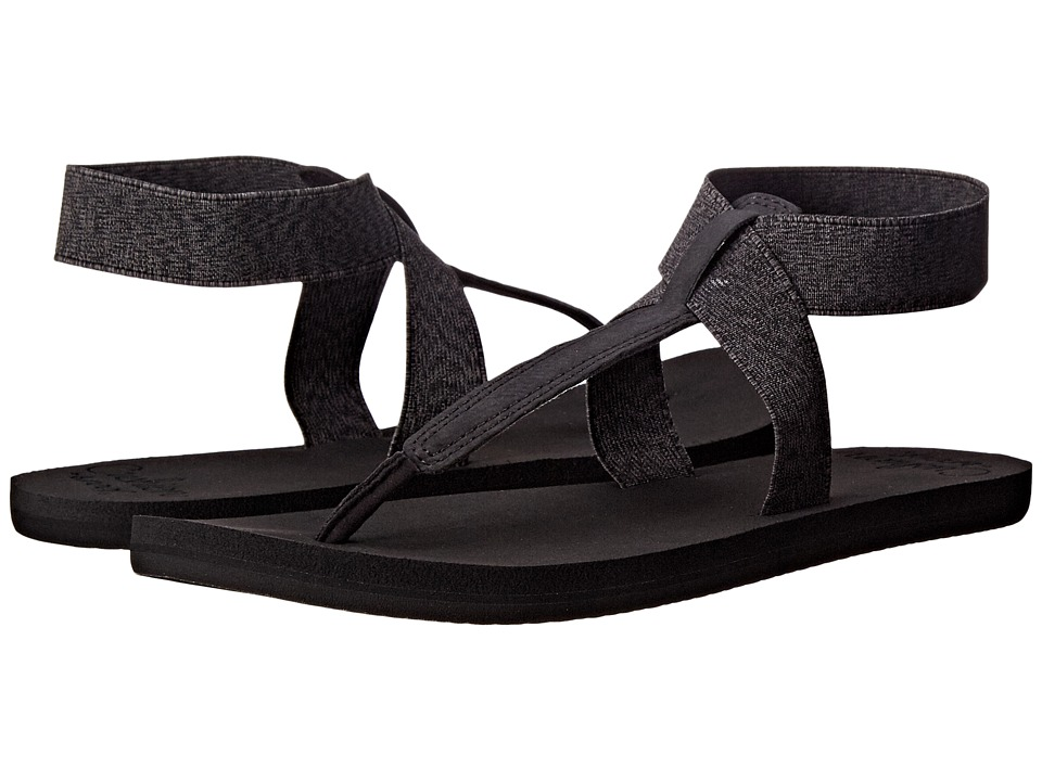 Reef - Cushion Moon (Black) Women's Sandals