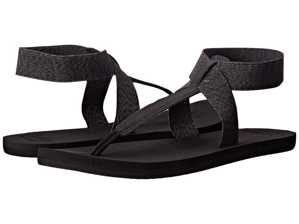 Reef - Cushion Moon (Black) Women's Sandals