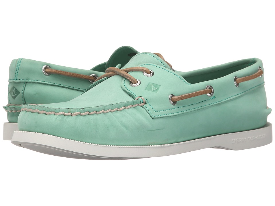 Sperry Top-Sider - A/O 2 Eye Wax Leather (Mint) Women