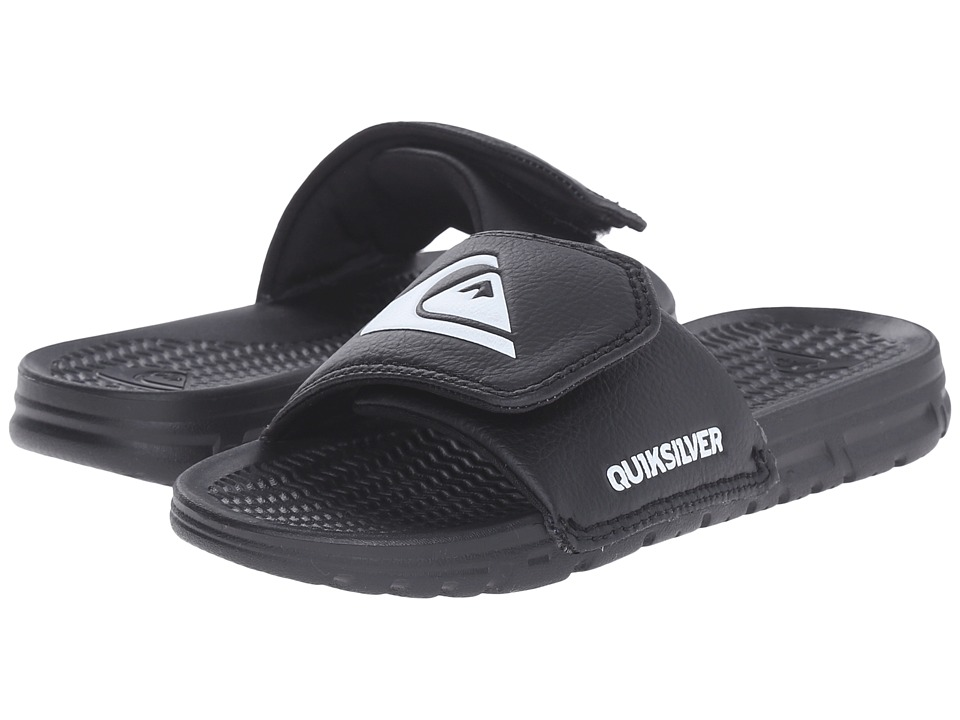 Quiksilver Kids Shoreline Adjust (Toddler/Little Kid/Big Kid) (Black/Black/White) Boys Shoes
