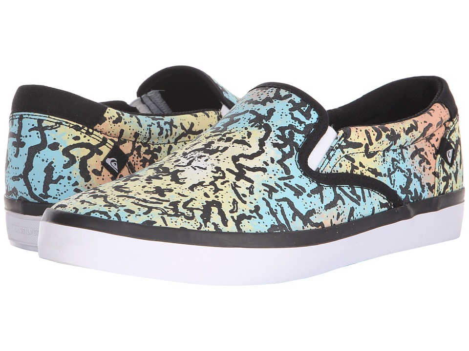 Quiksilver Shorebreak Slip On Blue/Red/White Mens Slip on Shoes