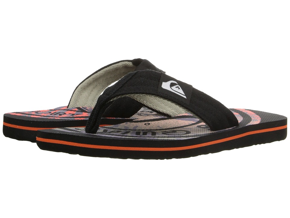 Quiksilver Kids - Molokai Layback (Toddler/Little Kid/Big Kid) (Black/Red/Red) Boys Shoes