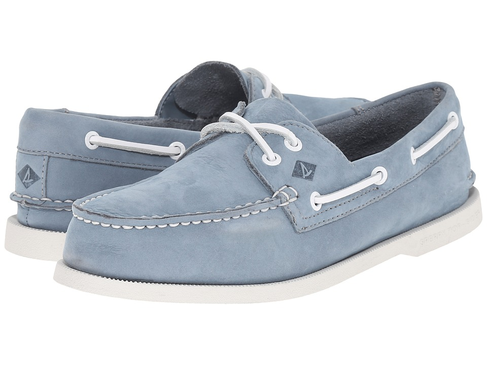Sperry Top-Sider - A/O 2-Eye Washable (Slate Blue Nubuck) Men
