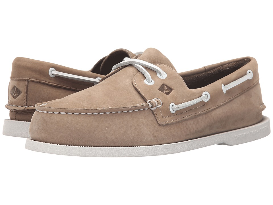 Sperry Top-Sider - A/O 2-Eye Washable (Taupe Nubuck) Men