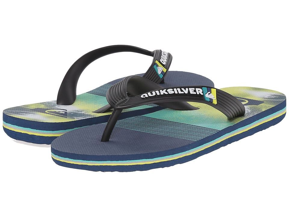 Quiksilver Kids - Molokai Remix (Toddler/Little Kid/Big Kid) (Black/Blue/Green) Boys Shoes