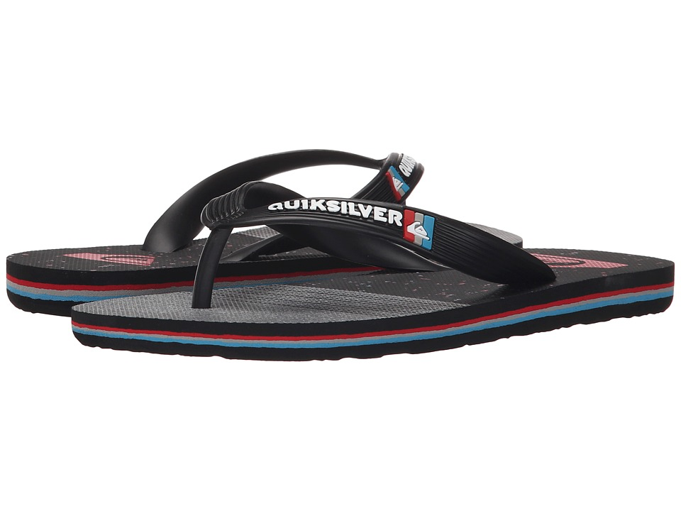 Quiksilver Kids - Molokai Remix (Toddler/Little Kid/Big Kid) (Black/Grey/Black) Boys Shoes