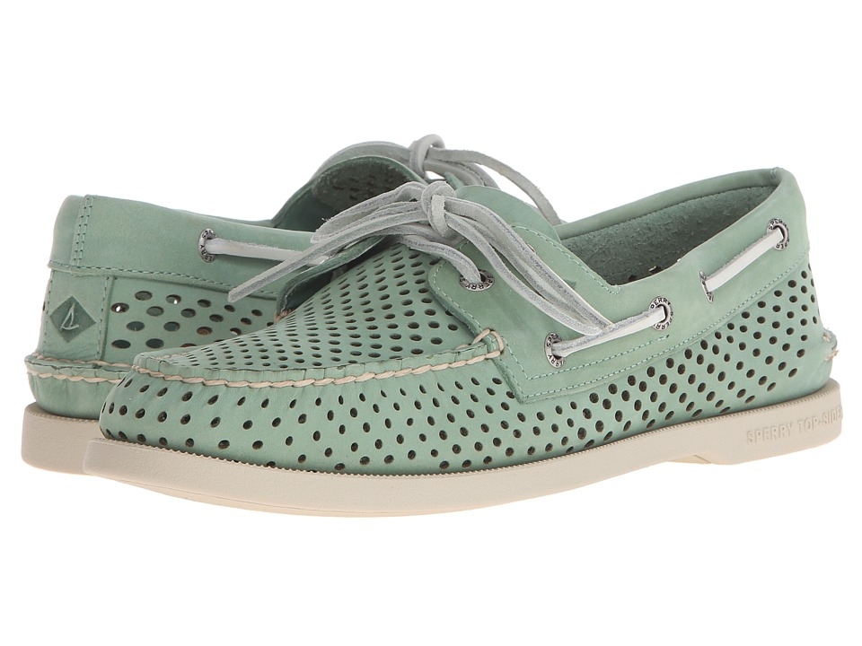 Sperry Top-Sider - A/O 2-Eye Laser Perf (Green) Men