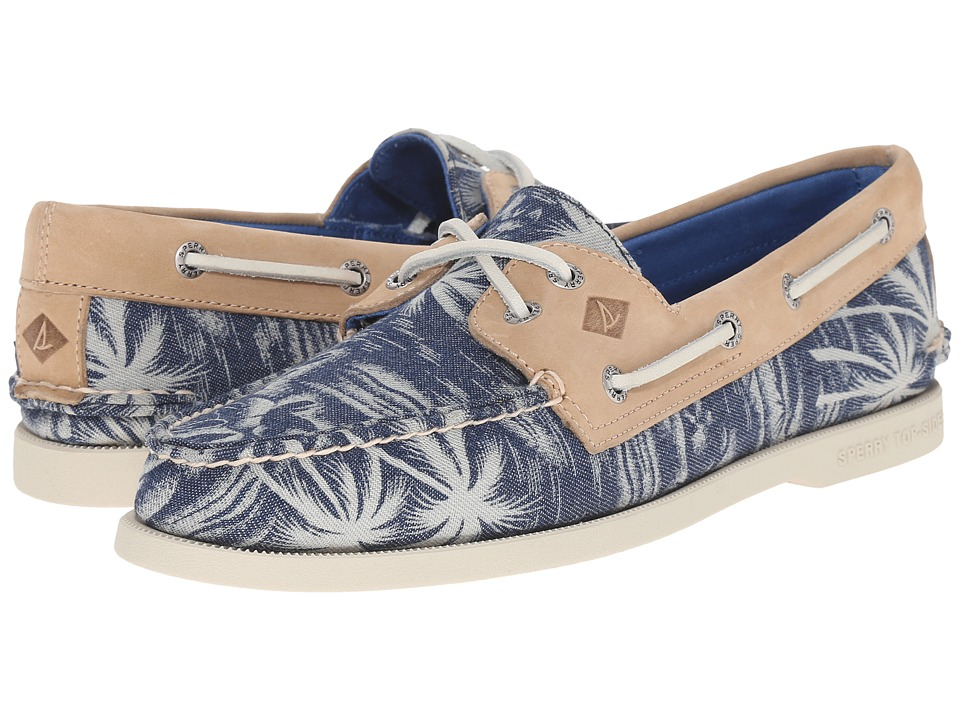 Sperry Top-Sider - A/O 2-Eye Chambray (Navy Palm) Men