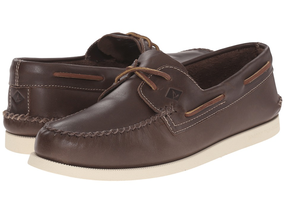 Sperry Top-Sider - A/O 2-Eye Wedge Leather (Brown) Men