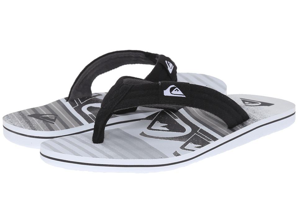 Quiksilver Molokai Layback Black/Grey/White Mens Sandals