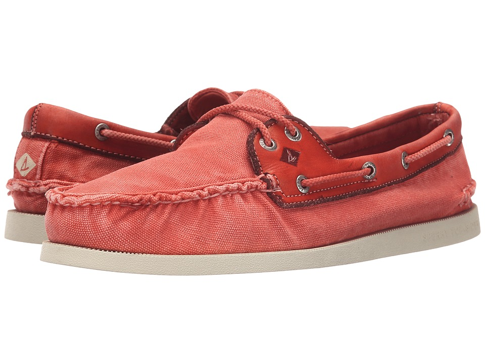 Sperry Top-Sider - A/O 2-Eye Wedge Canvas (Red) Men