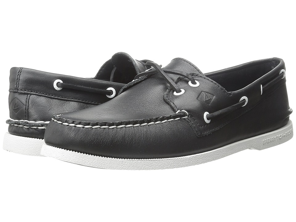 Sperry Top-Sider - A/O 2-Eye Cross Lace (Black/White) Men