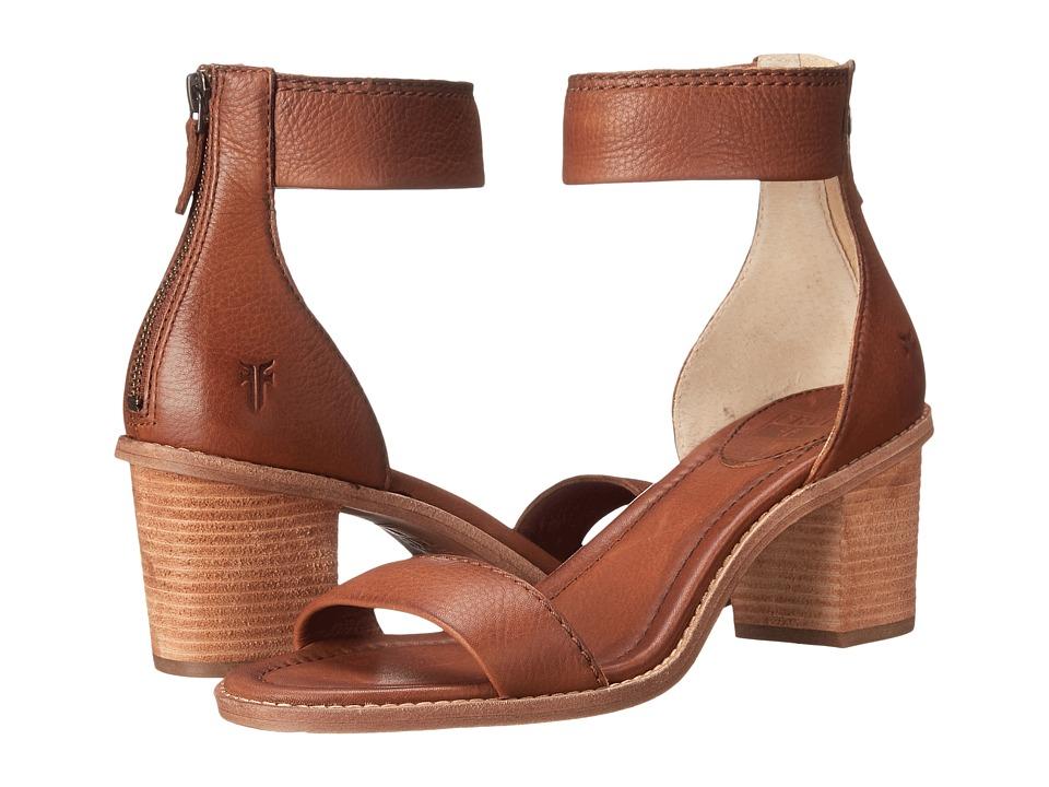 Frye Brielle Back Zip Sandal (Whiskey Soft Vintage Leather) High Heels