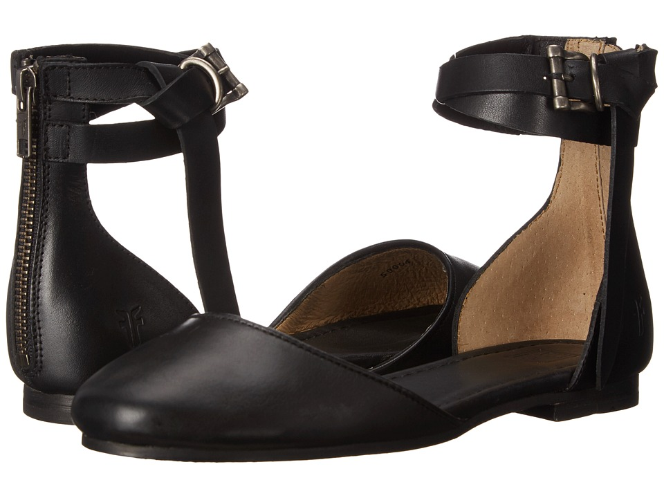 Frye - Carson Knotted Ballet (Black Polished Stonewash) Women