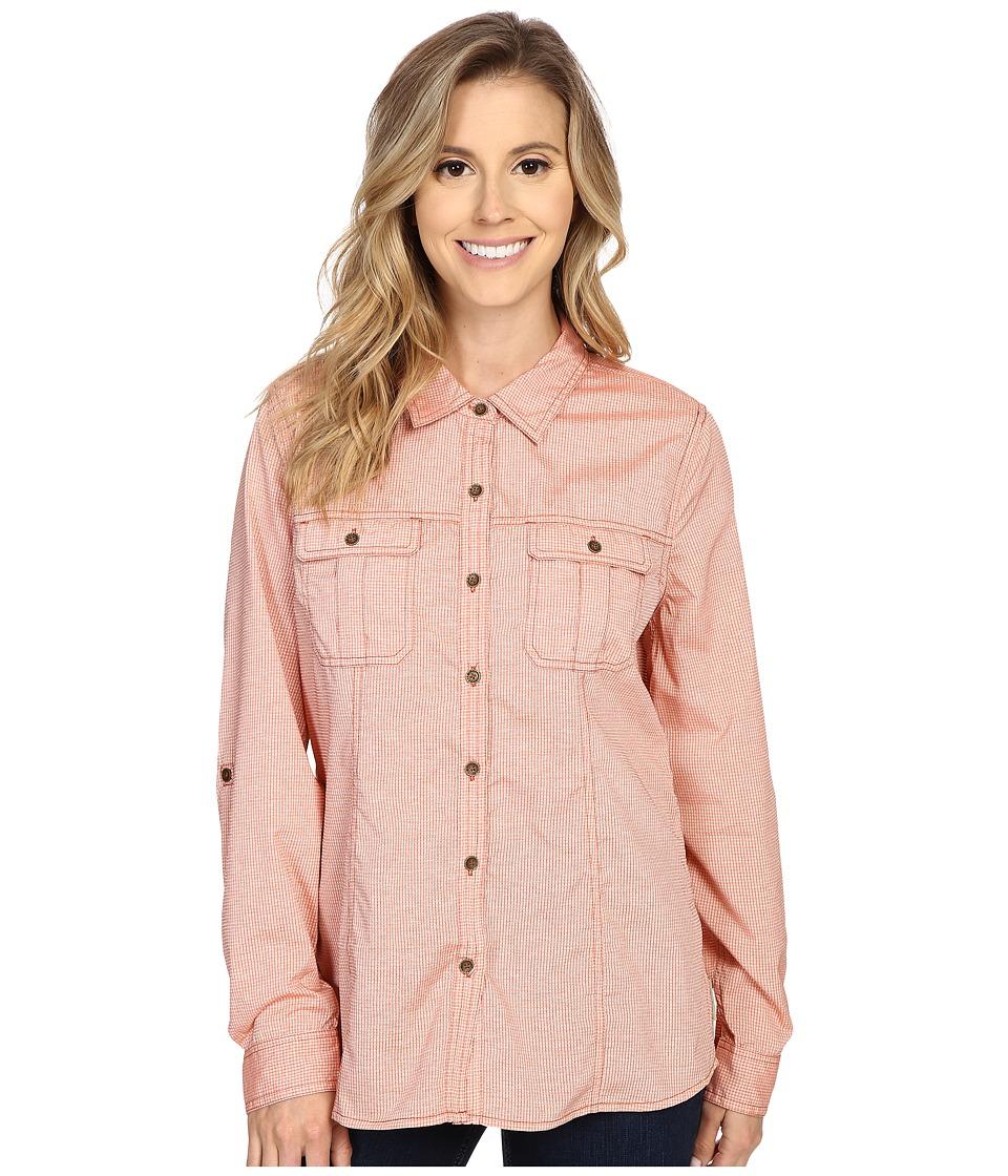 Royal Robbins Diablo Camp Shirt Dusty Coral Womens Long Sleeve Button Up