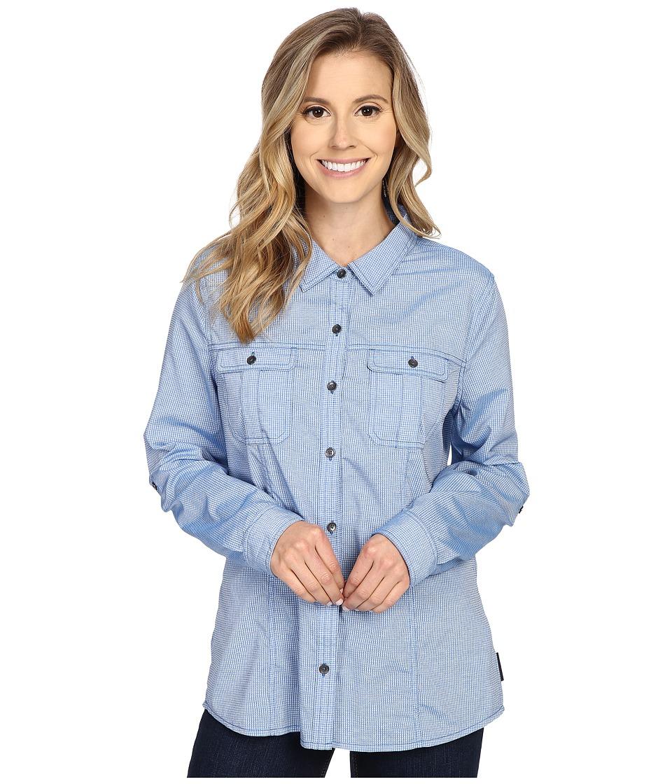 Royal Robbins Diablo Camp Shirt Light Lapis Womens Long Sleeve Button Up