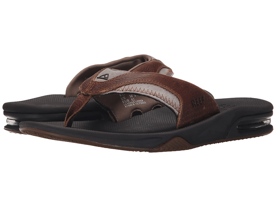Reef Fanning Leather (Brown/Brown 2) Men
