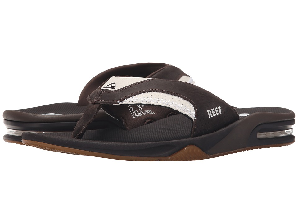 Reef Fanning Leather White/Brown 2 Mens Sandals