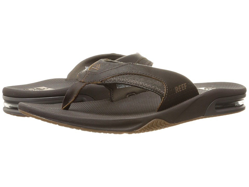 Reef Fanning Leather (Brown 2) Men