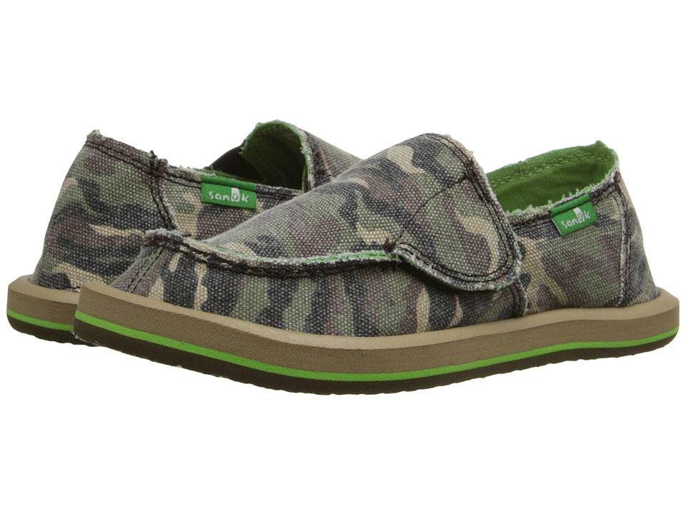 Sanuk Kids - Lil Donny Funk (Toddler/Little Kid) (Camo) Boys Shoes