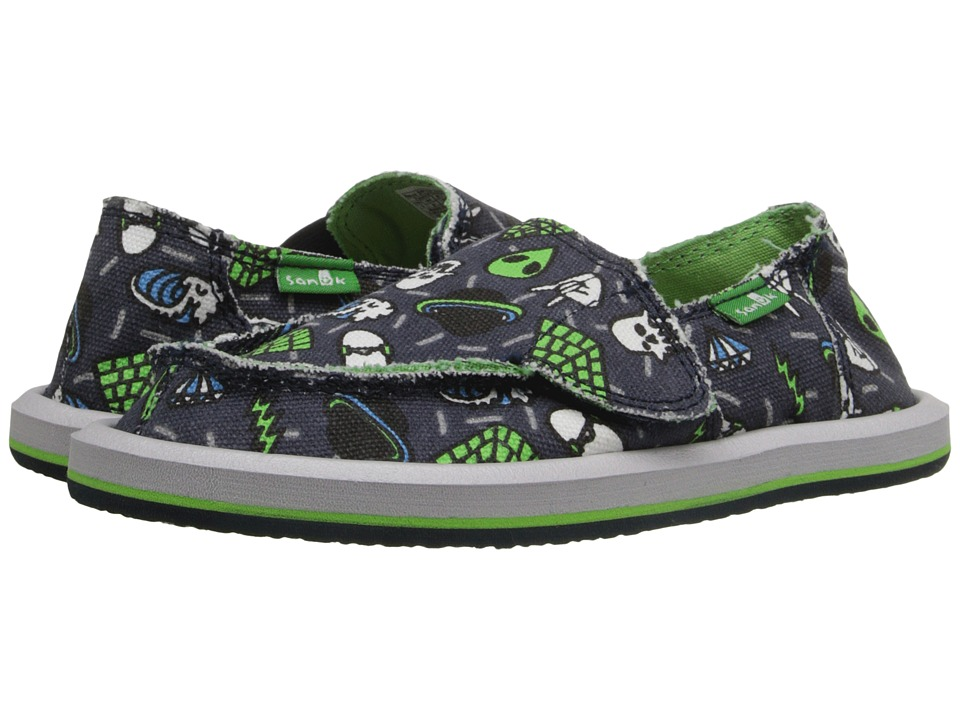 Sanuk Kids Lil Donny Funk Toddler/Little Kid Navy/Donny Icons Boys Shoes