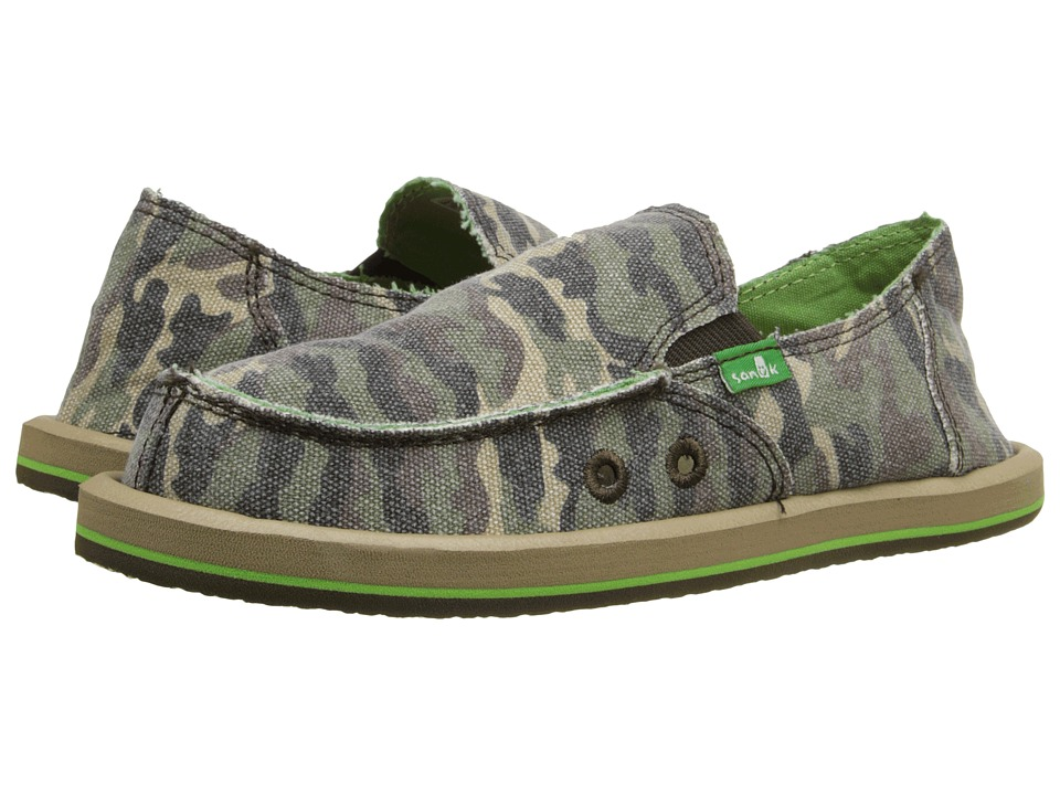 Sanuk Kids Lil Donny Funk Little Kid/Big Kid Camo Boys Shoes