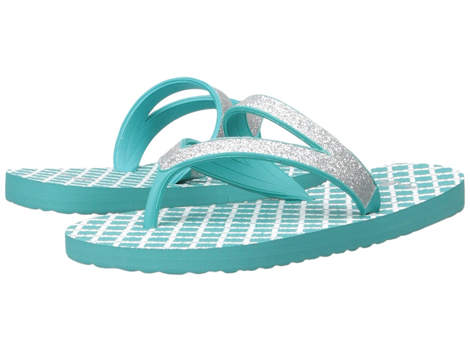 Sanuk Kids Lil Selene Crystal Little Kid/Big Kid Silver/Turquoise Girls Shoes
