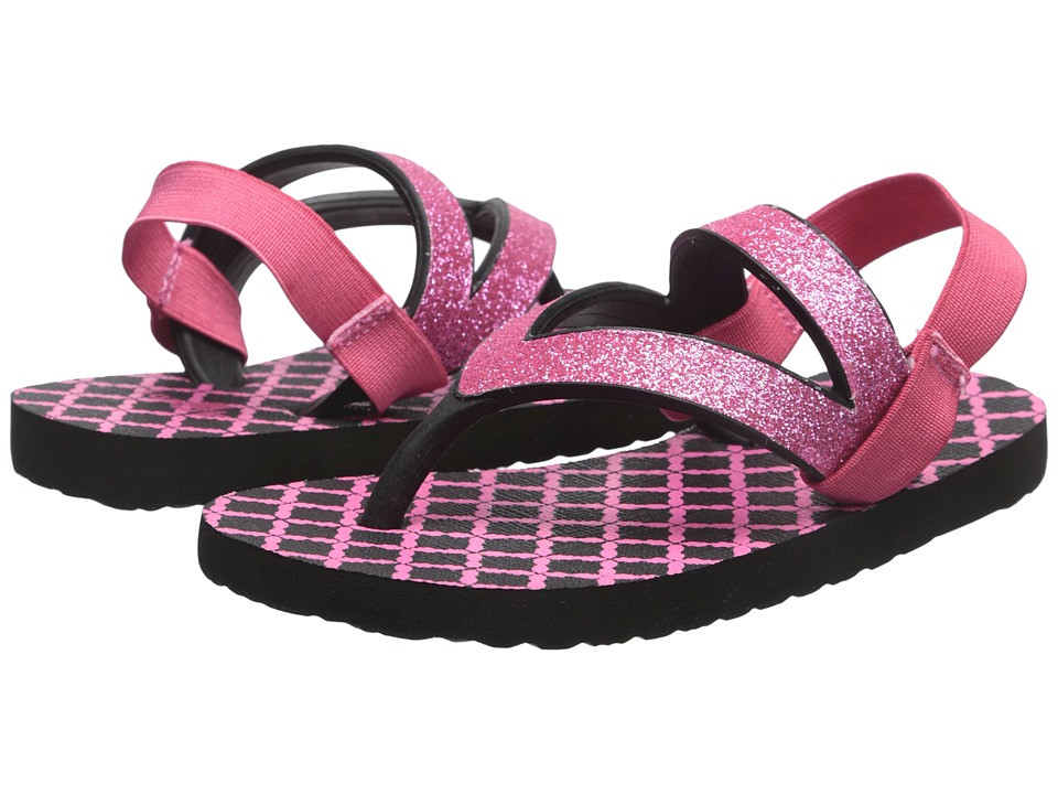 Sanuk Kids Lil Selene Crystal Toddler/Little Kid Pink/Black Girls Shoes