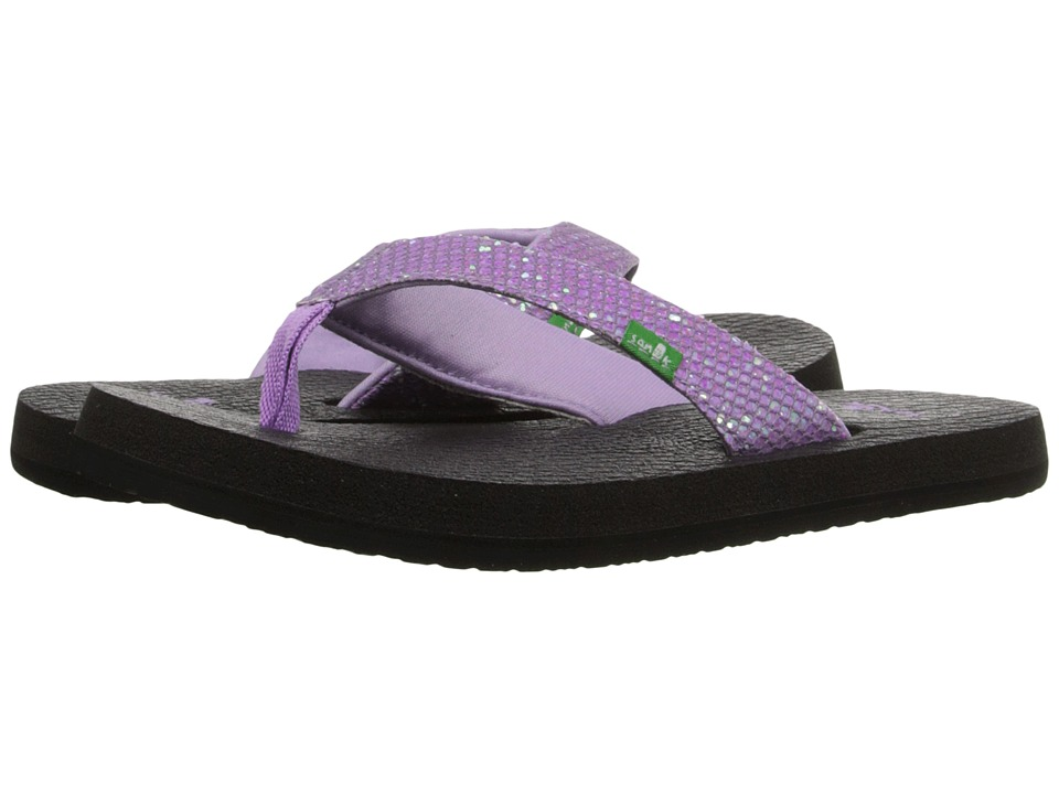 Sanuk Kids Yoga Glitter (Little Kid/Big Kid) (Hot Orchid) Girls Shoes